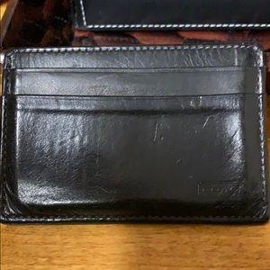 Coach card and money clip